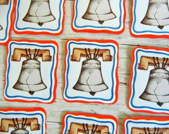 Whitney Made Liberty Bell Seals | Die-Cut Embossed Patriotic Labels | 4th of July Stickers