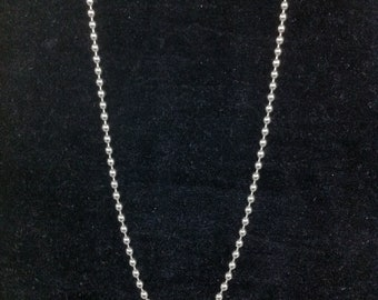 Five Drop Necklace: Stainless Steel Ball Chain Jewelery