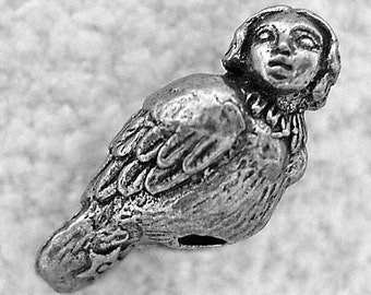 Green Girl Studios Harpy Girl Pewter Bead