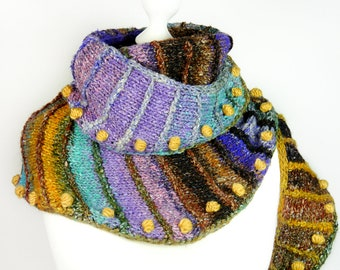 Shawl SNUGGLY SNUGGLE knitting pattern