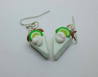 Key Lime Pie Slices Earrings