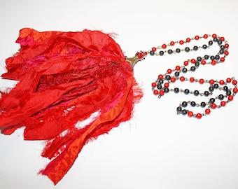 Sari Silk Ribbon Necklace