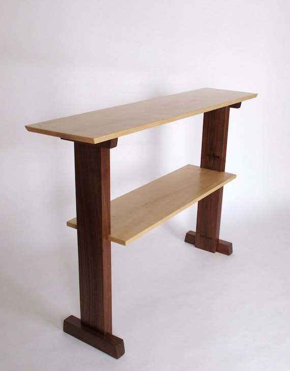 Standing desk narrow table console table for narrow hallway for Narrow console table modern