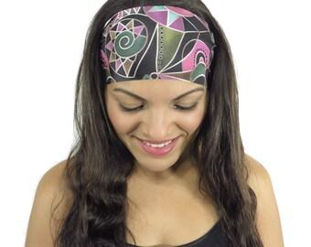 Yoga Headband Workout Headband Running Headband Wide Boho Headband Fitness Headband No Slip Headband Fashion Headband Women Head Wrap S194