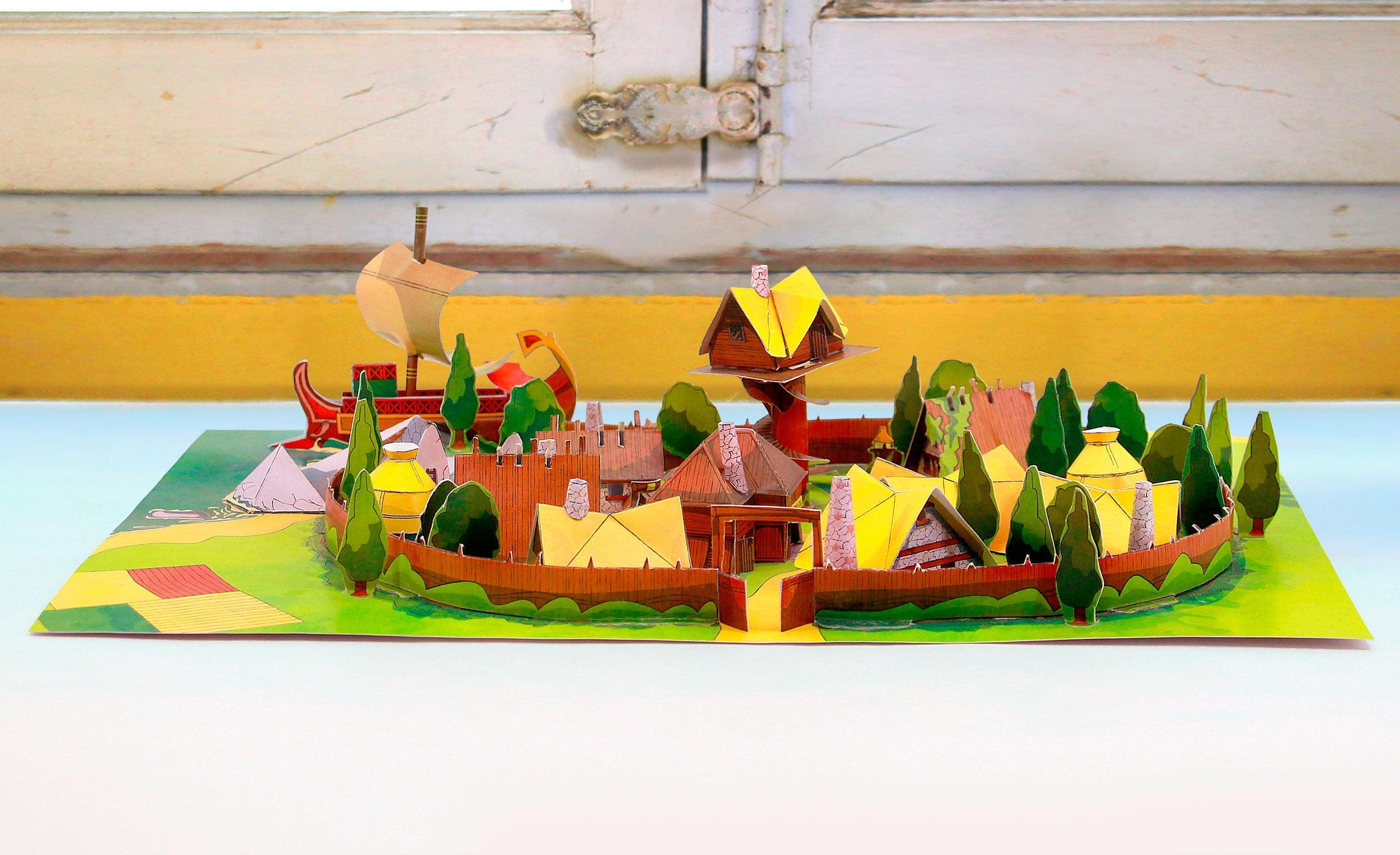 Village Astérix PAPERCRAFT Il_fullxfull.1502570373_71jm