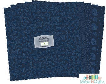 Layer Cake-Wilmington Essentials-In the Navy-Tonal Fabrics-10 inch squares