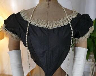 1860 Bodice, Crinoline Dress, antique dress, antique gown, Victorian Dress