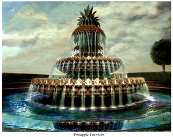 Pineapple Fountain Charleston South Carolina