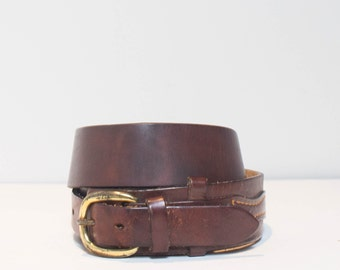 32 | 1970's Justin Brown Leather Western Belt