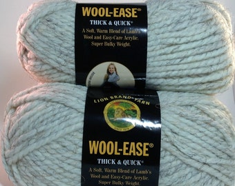 Lion Brand Yarn Wool-Ease Thick & Quick in color Wheat, Lot of 2 skeins