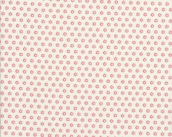 Pomegrante Polka Dots - Pomegrante Posies - Cream Fabric, Fig Tree - Fig Tree Fabric - Moda Fabric