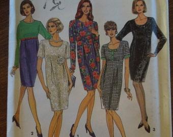 Simplicity 8124, sizes 12-16, misses, petite, dress, UNCUT sewing pattern, craft supplies