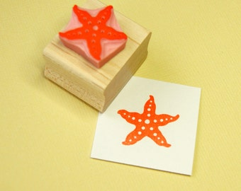 Starfish Rubber Stamp - Nautical Stamp - Beach Rubber Stamp - Star Stamp - Shell Rubber Stamp - Beachcombing - Sand - Sea stamp - Sand Stamp
