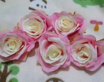 Fake pink rose head for crafting purpose