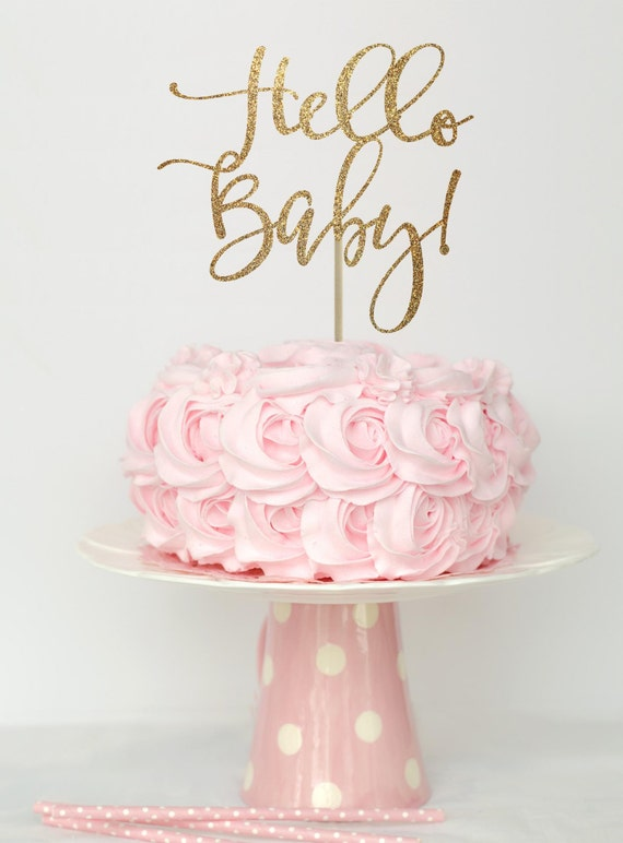 gender reveal cake toppers baby shower cake topper gold gold baby shower cake top 4469