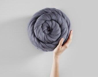 Helix Yarn. Super Thick Handspun Merino Yarn.