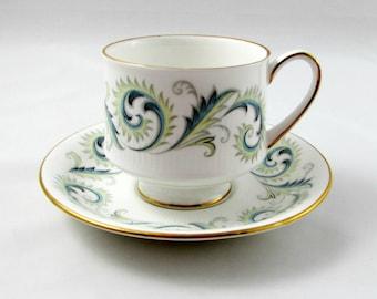 Royal Standard Garland Tea Cup and Saucer, Vintage Bone China
