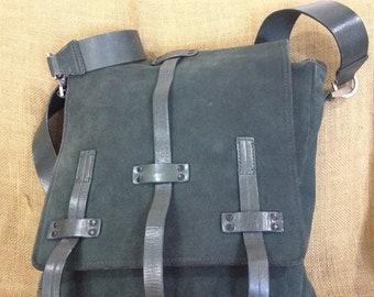 15% SUMMER SALE Rare Genuine vintage Kenneth Cole suede and leather messenger bag