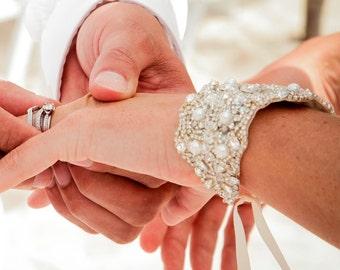 Wedding Bridal Crystal Bracelet Cuff Bangle