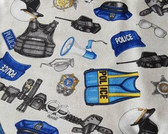 Police Gear Fabric - 1 Yard Cut by Quilting Treasures