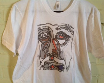 Picasso in black and white T shirt