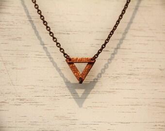 Kleine Kupfer Dreieck Halskette