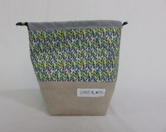 Sock Project Bag // Emily Sack //Favorite Sweater