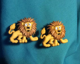 Cute LION Full Body SILLY Zoo ANIMAL King of the Jungle Clog Shoe Charms