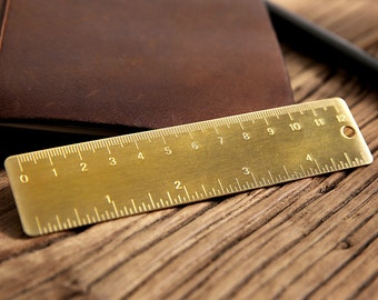 brass ruler, solid brass ruler