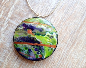 Trendy artwork pendant two different sides as original as the other