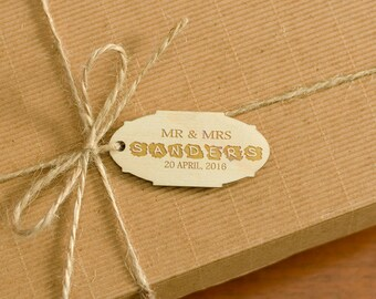 Wedding Tags Wooden Personalized Gift Tags Natural Wood Engraved Tags Wedding Party Favor Rustic Gift Tags