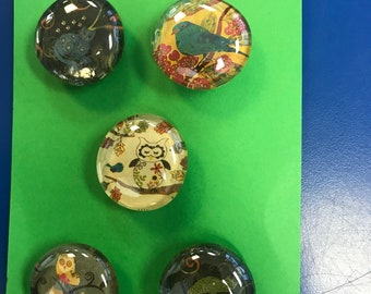Abstract Animal Glass Marble Magnets