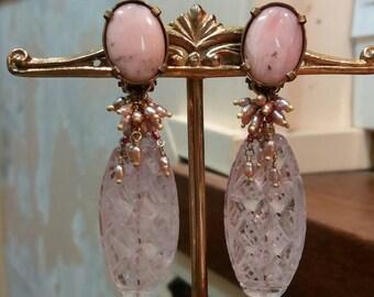 DOUCE FRANCE boucles d'oreilles clips en pierres naturelles.