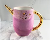 Lilac Unicorn Mug - Handmade Unicorn Ceramic Mug