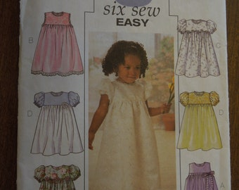 Butterick 3700, sizes 1-4, dress, childrens, toddlers, UNCUT sewing pattern