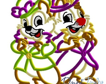 Halloween Chip and Dale Candy - 4x4, 5x7, 6x10 and 8x9 in 9 formats - Applique - Instant Download - David Taylor Digitizing