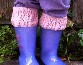 Girl leg warmers, boot cuff, boot socks, boot topper, cuff, toddler boot cuff , toddler leg warmers, baby leg warmers