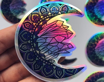 Holographic crystal moon mandala