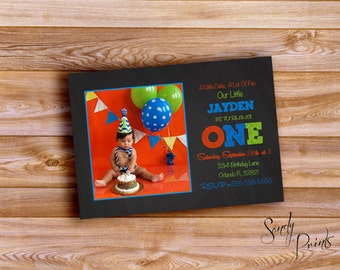 Birthday Chalkboard Invitation Digital