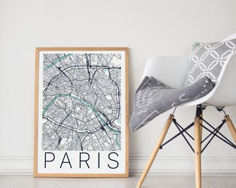 Paris Map / Paris Poster / Paris / Paris Art / Paris Print / Paris France / Paris Wall Art /  Paris City Map