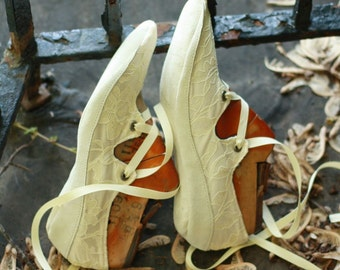 Your Size & Fabric, Oval Toe Wedding Gillies with Dancing (or Light Outdoor) Suede Soles