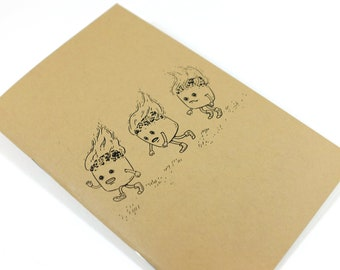 "Pocket Notebook - Marshmallows - 32 Blank Pages - 5.5"" x 3.5"""