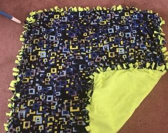 Boys tie blanket