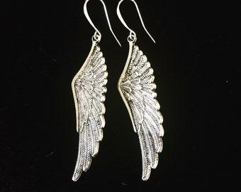 Long Wing Earrings