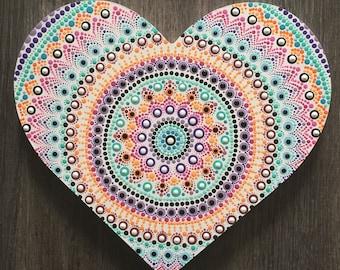 Wooden Heart Mandala