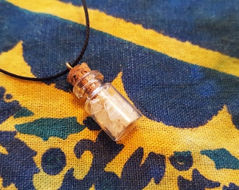 Citrine | Fairy Gemstone Bottle Necklace | Crystals, Gems, Jewelry, Fairy Gifts, Rocks & Minerals, Natural, Stone