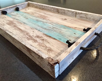 Serving tray, repurposed pallet wood