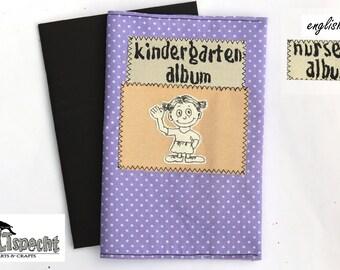 Mini-album nursery, little album, girl, album-gift, grandparents, german handmade,