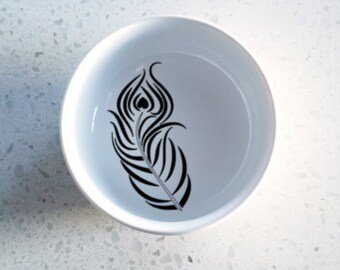 Ring Dish | Trinket Dish | Mini Ring Dish | Bride Ring Holder | Jewelry Dish | Jewelry Holder | Feather