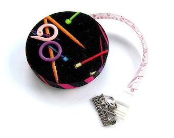 Measuring Tape Neon Knitting Needles Retracttable Tape Measure